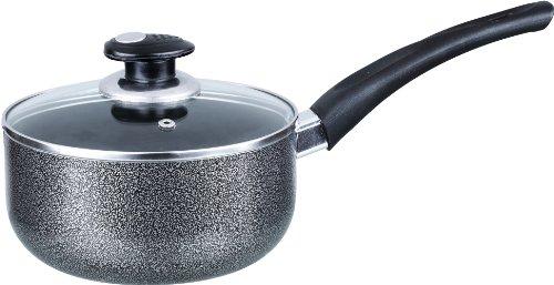 Brentwood Non-Stick 2-1/2 MM Aluminum Saucepan, 2-Quart, Gray