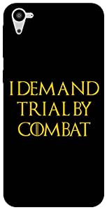 The Racoon Lean Trial by Combat hard plastic printed back case for HTC Desire 826