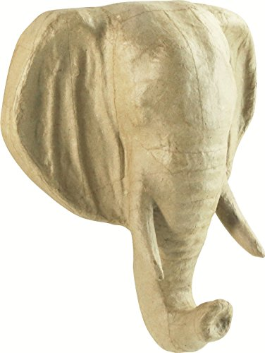 decopatch-23-x-19-x-170-cm-motivo-testa-di-elefante-in-cartapesta-colore-marrone