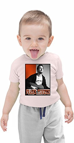 Frank Turner With Guitar Portrait Organic Baby T-shirt Stylish Organic Baby T-shirt Fashion Fit Kids Printed Clothes by Genuine Fan Merchandise 6-12 Months