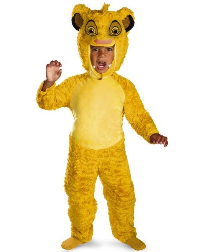 [Disguise Disney Lion King Simba Deluxe Boys Costume, Medium/3T-4T] (Nala And Simba Halloween Costumes)