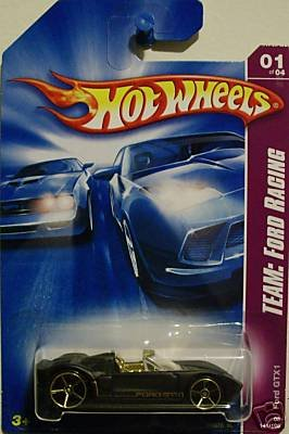 Mattel Hot Wheels 2008 Team Ford Racing 1:64 Scale Black Ford GTX1 Die Cast Car #141 - 1