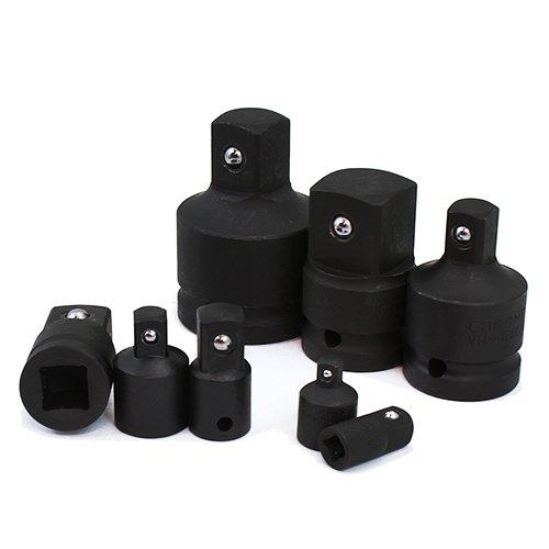 XtremepowerUS 8Pcs Crv Air Impact Reducer Socket Drive Adapter Set