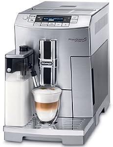 DeLonghi PrimaDonna S De Luxe ECAM 26.455.M, Digital, Plata, 1450 W, 220/240 V, 50/60 Hz, 236 x 460 x 348 mm - Máquina de café