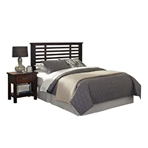 Home Styles Cabin Creek Queen Full Headboard And Night Stand With Metal Accents