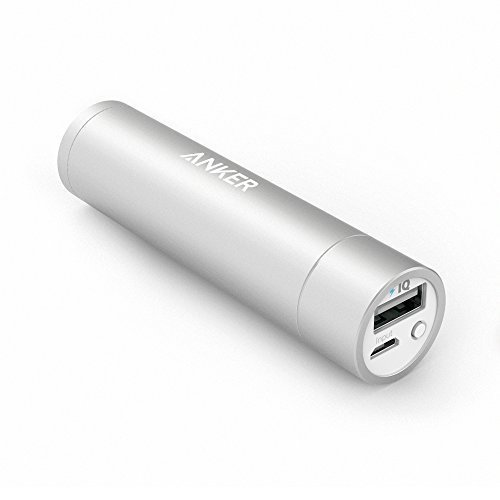 Anker PowerCore+ mini (Caricatore portatile Premium in alluminio da 3350mAh) Batteria esterna Power bank grande quanto un rossetto per iPhone 6 / 6 Plus, iPad Air 2 / mini 3, Galaxy S6 / S6 Edge e altro (Oro, Argento, Rosa)
