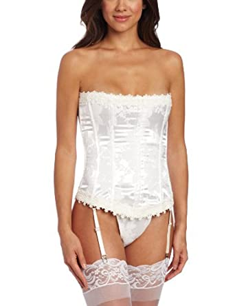 Shirley of Hollywood Women's Stunning Floral Tapestry Strapless Corset,Candlelight,36