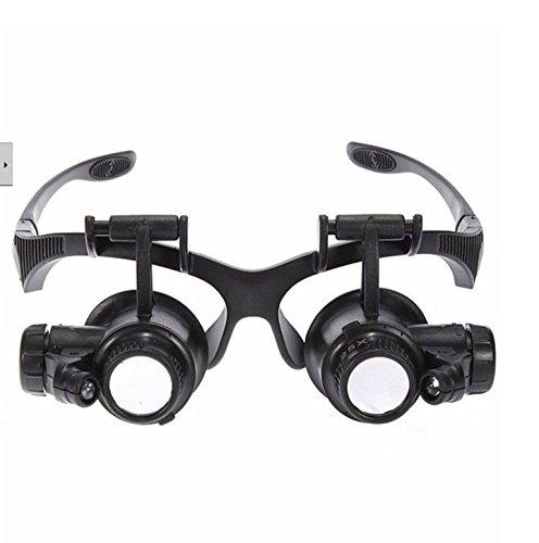 Loupe 10X 15X 20X 25X Watch Repair Glasses Style Magnifier Eyewear Magnifier