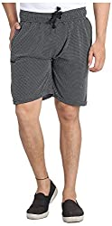 Broche Men's Cotton Shorts (Broche9009-L, Black, Large)