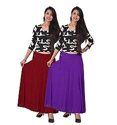 Ace Long Skirt-Meroon,Purple