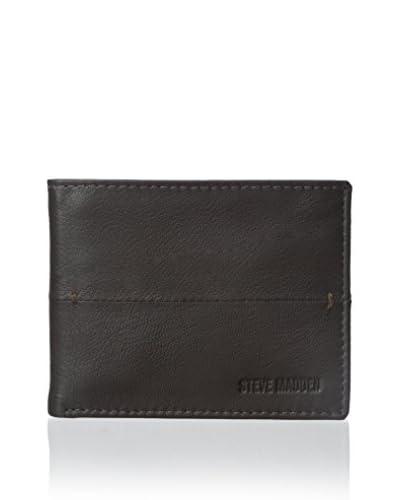 Steve Madden Men's Buck Bar Pass Wallet, Brown, One Size