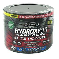 Muscletech Hydroxycut Hardcore Elite Powder Blue Raspberry 30 Servings