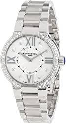 Raymond Weil Women's 5932-STS-00995 Noemia Stainless Steel Diamond-Accented Watch with Link Bracelet