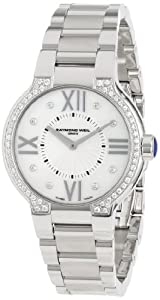 Raymond Weil Women's 5932-STS-00995 Noemia Steel Mother-Of-Pearl Diamond Dial and Bezel Watch