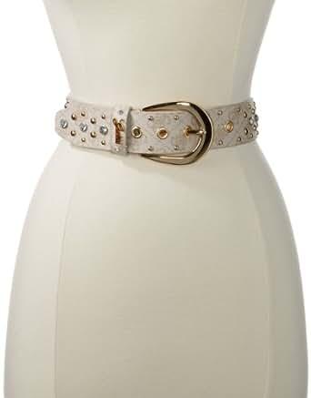 Guess Women's La Belt, Beige, Small