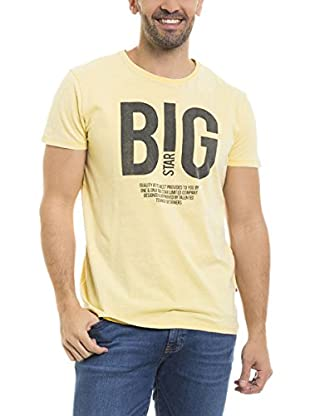 BIG STAR Camiseta Manga Corta Methos_Ts_Ss (Amarillo)