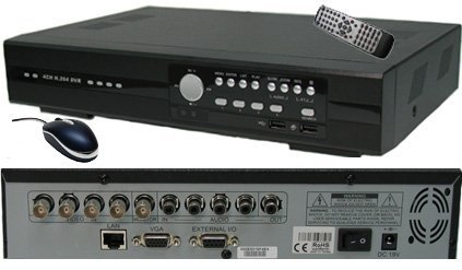 CIB R401H60W500G8752-8401 4CH Surveillance DVR Four CCD Cameras 500GB KIT. Ea...
