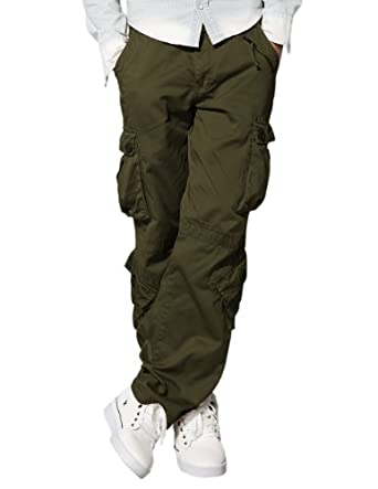 Match Men's Retro Cargo Pants #3357(Army Green,29)