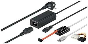 Wentronic Convertisseur USB 2.0 pour disques durs IDE/SATA Adaptateur secteur inclus (Import Allemagne)