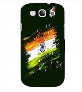 PRINTSWAG INDIAN FLAG Designer Back Cover Case for SAMSUNG GALAXY S3
