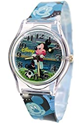 Disney Wrist Watch For Kids Mickey Mouse Playing Football. Large Analog Display.