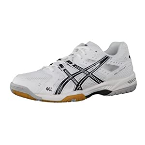 Asics Volleyballschuhe Gel Rocket 6 B207N-0190 42, White-Black-Silver, 42