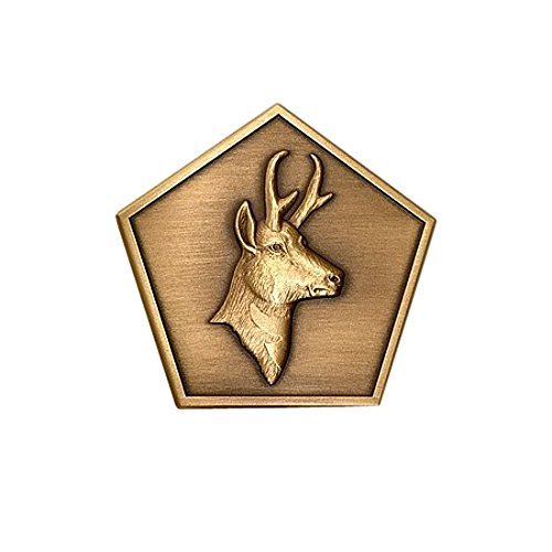 Northwest Territorial Mint Antelope Wood Badge Medallion - 1