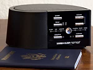 SOUND+SLEEP Nomad Adaptive Sound Machine for Travel, Black