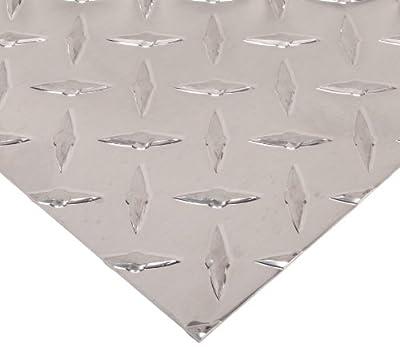 3003 Aluminum Diamond-Tread Sheet, Unpolished (Mill) Finish, H22 Temper, Standard Tolerance, Inch, AMS QQ-A 250/2/ASTM B209