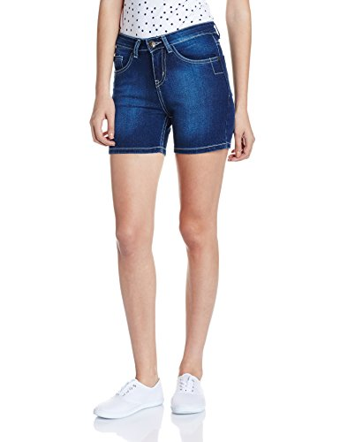 Jealous 21 Women's Denim Shorts (JY1988_Blue_28)