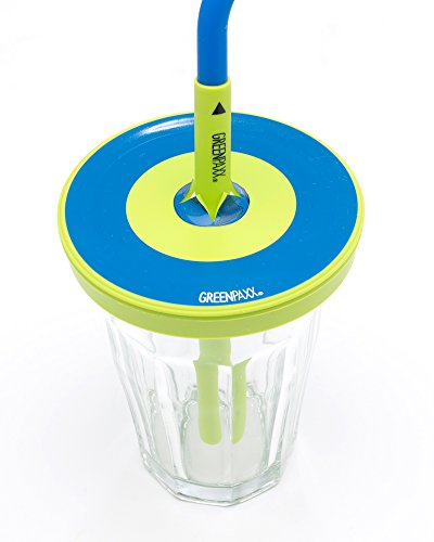 GreenPaxx Universal cup lid fits many glasses and cups 2 Pack Blue