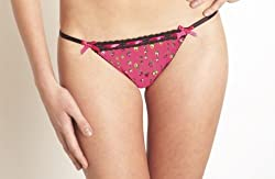 Betsey Johnson Stretch Mesh String Thong 720733