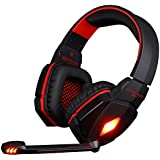 VersionTech Red EACH G4000 Professional 3.5mm PC Gaming Stereo Noise Isolation Headset Headphone Earphones with Volume Control Microphone HiFi Driver For Laptop Computer