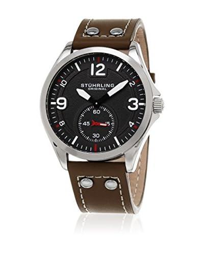 Stuhrling Original Reloj con movimiento cuarzo japonés Tuskegee 684 Marrón 44 mm