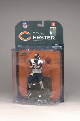 McFarlane Toys NFL Sports Picks Series 18 (2008 Wave 2) Action Figure Devin Hester (Chicago Bears) White Wrist Bands