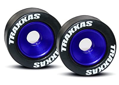 Traxxas 5186A Wheelie Bar Wheels, Rubber Tires w/Bearings