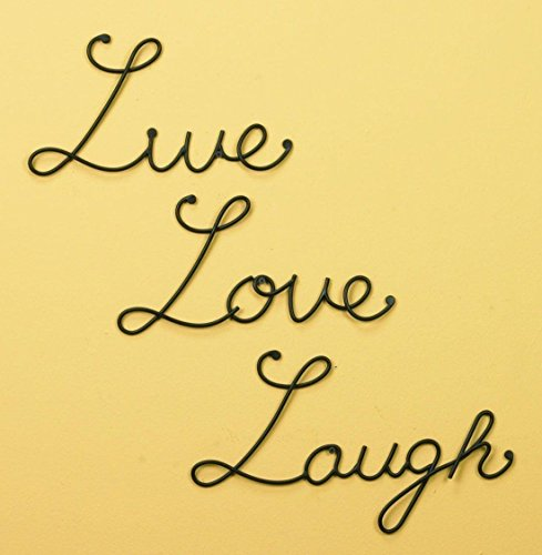 Live Love Laugh Set 3 Wall Mount Metal Wall Word Sculpture Wall Decor New
