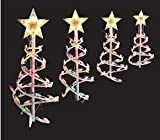 Multicolor 18in Spiral Tree Pathway Lights Christmas Lawn Yard Decorations