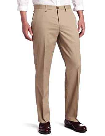 Dockers Men's Iron Free Khaki D2 Straight Fit Flat Front Pant, British Khaki, 38x32