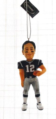 New England Patriots Tom Brady #12 NFL rare Limited Edition Hand painted XMAS Tree Ornament