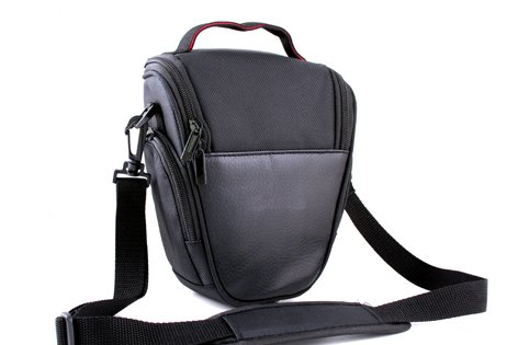 Easy Access Black PU Leather Camera Case for