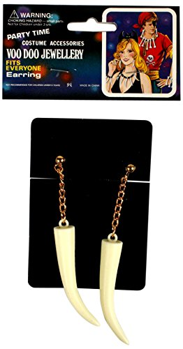 Alexanders Costumes Women's Sabre Tooth Earrings