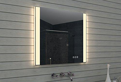 LUX di Aqua Specchio bagno Led, Vetro, Alluminio, Vetro, alluminio, 80  x  70  x  3.45 cm