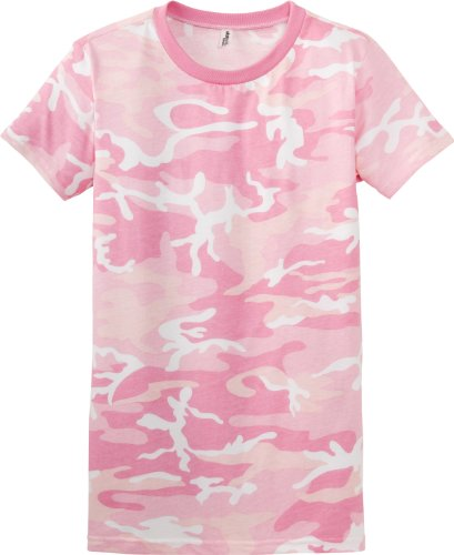 District Threads - Ladies / Junior Girly Perfect Weight Camo Short Sleeve District Tee. DT200C