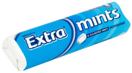 EXTRA Peppermint Mints Roll 16 Mints (Pack of 24)