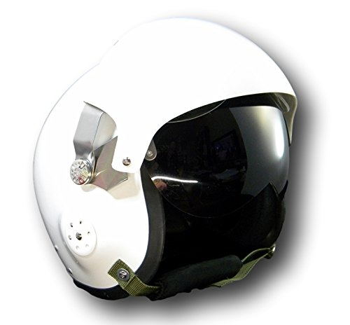 Collectable MILITARY AIR FORCE Jet Pilot Flight Helmet Open Face Gloss white