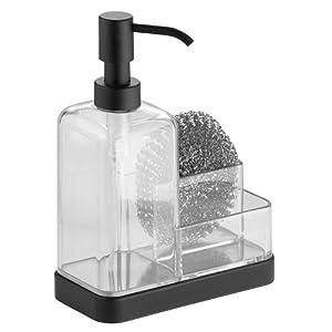 Amazon.com - InterDesign Forma Soap and Sponge Caddy, Matte Black
