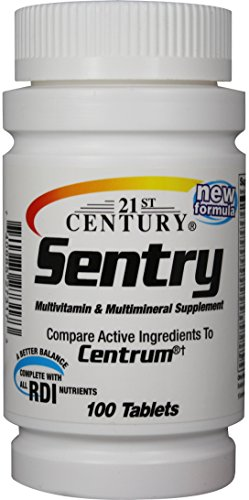 21St Century Health Care Sentry Multivitamin & Multimineral Supplement 100 Tablets