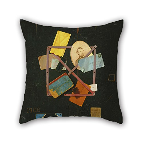 Artistdecor Oil Painting John Frederick Peto - Old Time Card Rack Throw Pillow Covers 18 X 18 Inches / 45 By 45 Cm Best Choice For Club Study Room Shop Chair Dinning Room Lover With Double Sides (Peto Bear compare prices)