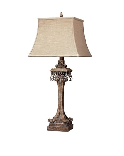 Stanton Distressed Table Lamp, Corbel